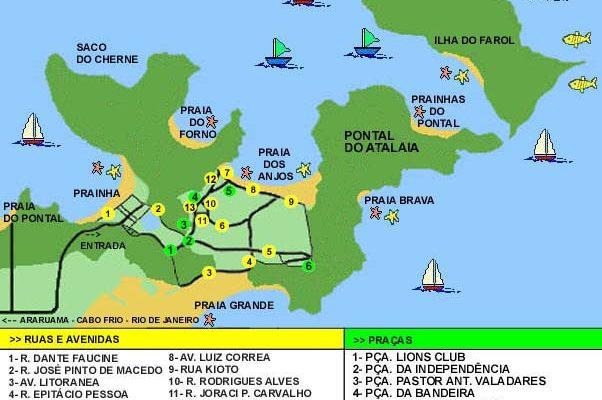 mappa di Arraial do Cabo.