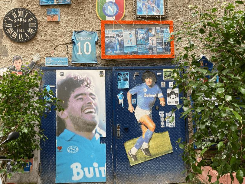 Murales di Maradona a Napoli
